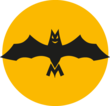 The nights buses are labelled with the bat symbole